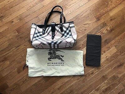 Authentic Burberry Novacheck Diaper Bag in good condition! W/ changing pad.