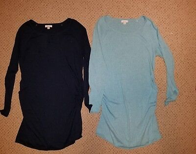 lot 2 womens Liz Lange Maternity winter tunic sweaters Large