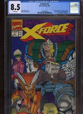 X-Force #1 CGC 8.5 Rob Liefeld FABIAN NICIEZA Cable CANNONBALL 1991