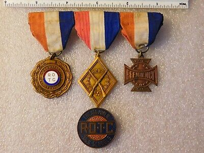 Post WWII Chicago Public High Schools ROTC medals lot