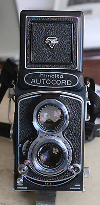 Minolta Autocord--beautiful and working well.  Very sharp, easy to use TLR!