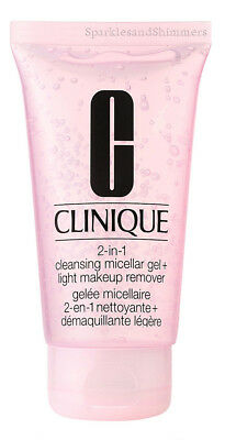 Clinique 2-in-1 Cleansing Micellar Gel & Light Make Up Remover 30ml TRAVEL SIZE