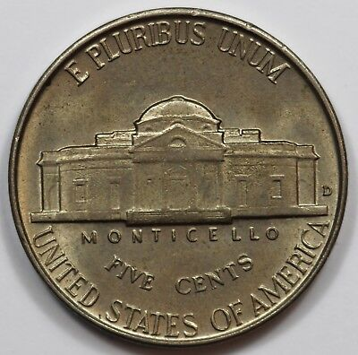 USA 1942 D Five Cent, Choice Uncirculated