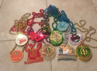 Lot Of 11  New Orleans Medallion Decorative Mardi Gras Beads