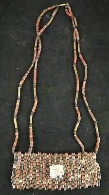 Ancient Egyptian Bead Necklace w/eye of Horus amulet, c. 650BC - 30BC.