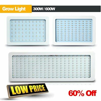 300W/600W LED Grow Light Hydro Full Spectrum Hydroponic Indoor Veg Bloom Plant