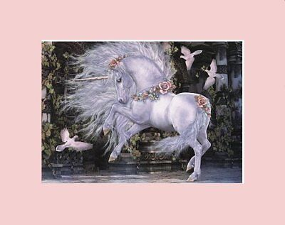 Gorgeous Matted Unicorn Art * Laura Prindel * Gwenvale
