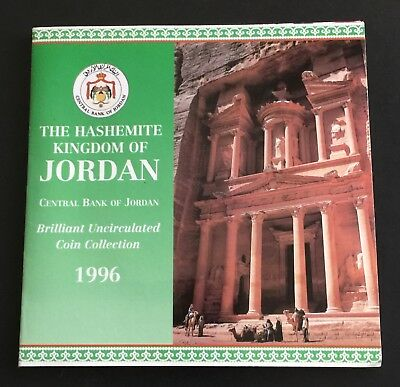 Jordan 1996 Mint Set 8 BU Coin Collection Middle East Hashemite Kingdom