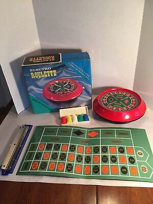 Vintage Waco Electro Roulette Game. Light Up Ball. Works. Complete. Chips & Mat