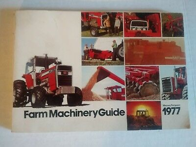 Original 1977 Massey Ferguson Farm Machinery 210 page Guide