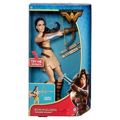 """NEW! DC Wonder Woman Bow-Wielding 12"""" Action Figure. Real Launching Arrows!"""