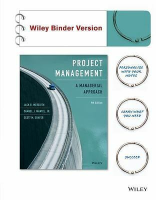 Project Management : A Managerial Approach 9th Edition E-Book