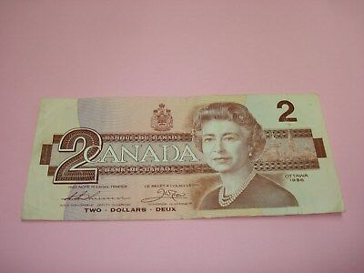 1954 - Bank of Canada $1 note - one dollar bill - 2