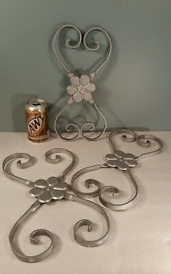 Set 3 vintage ALUMINUM SCREEN DOOR GUARD Scroll Grill