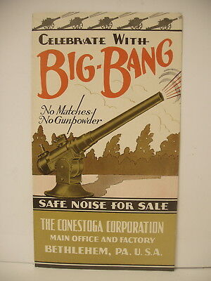 Vintage Original Big Bang Cannon Conestoga Bethlehem Pa Advertising BROCHURE