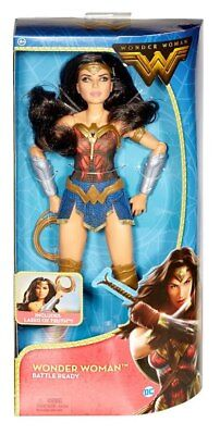 NEW! DC Comics Wonder Woman Battle Ready Posable Figure w/ Lasso of Truth.