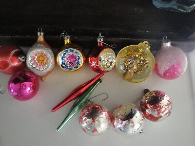 Vintage LOT  of Glass Mercury Christmas Ornaments