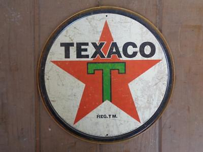 Tin Texaco Advertising Sign Gas Service Station  Display Sign
