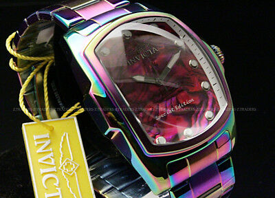 New Invicta Men's 50mm Grand Lupah Abalone Dial Iridescent S.S Bracelet Watch