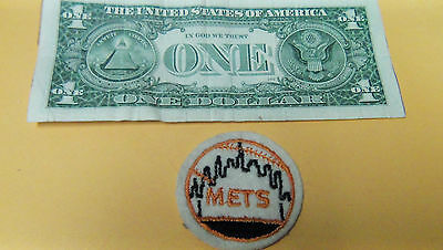 Vintage METS BASEBALL  Embroidered Smal Round Patch MLB Baseball BOX6