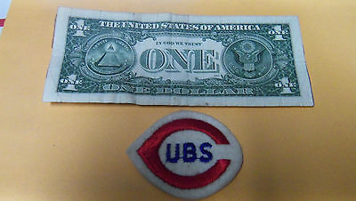 Vintage CUBS BASEBALL  Embroidered Smal Round Patch MLB Baseball BOX6