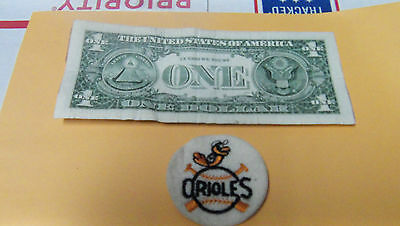 Vintage ORIOLES  BASEBALL  Embroidered Smal Round Patch MLB Baseball BOX6