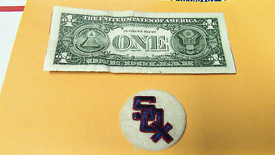 Vintage SOX BASEBALL  Embroidered Smal Round Patch MLB Baseball BOX6
