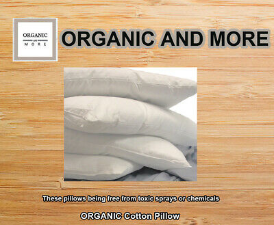 Organic Pillow Cotton  with Organic Fill and Organic covering |Organic Textiles