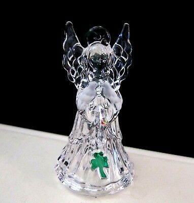 New Galway Angel W/ Doves Irish Crystal Bell Christmas Ornament In Box