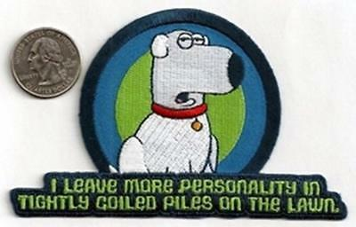 THE FAMILY GUY new sew/iron on PATCH brian funny cool coat jacket
