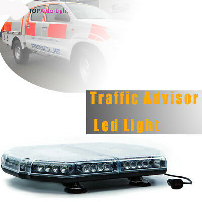 "18"" LED Yellow/White emergency Warning Light Bar Traffic Vehicle Advisor Strobe"