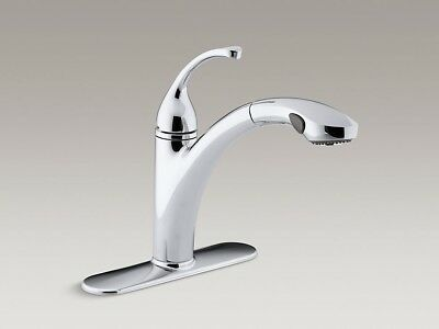 Kohler Forte 10433 Cp 1 Hole Or 3 Hole Kitchen Faucet With Pull Out Spary Spout