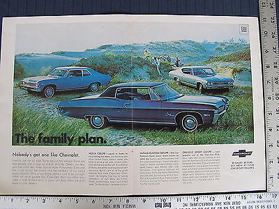 1968 Chevrolet Chevy II Nova Impala Chevelle Sport Coupe Print Ad Advertisement