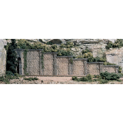 Woodland Scenics 1159 - Cut Stone Retaining Wall (6 pieces) - N Scale