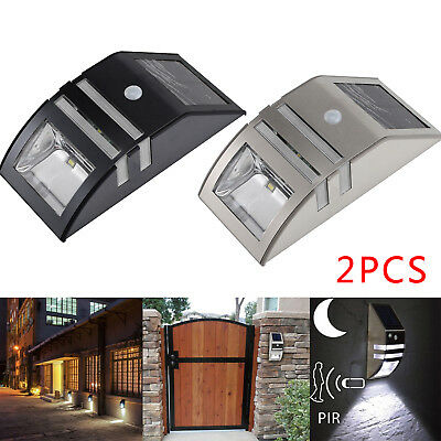 Motion Sensor PIR Solar Powered LED Outdoor Security Wall Light Driveway Garden