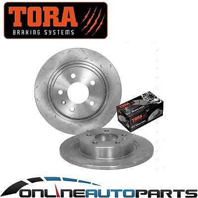 Rear Slotted Dimple Drilled Disc Brake Rotors + Pads Cruze JG JH 2009-2012 292mm