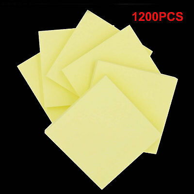 """1200 NEON Remove It Sticky Post Notes 76mm x 76mm 3"""" x 3"""" (12 packs of 100)"""