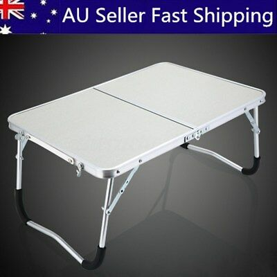 Portable Adjustable Camping Folding Laptop Table Desk Computer Reading Bed Tray