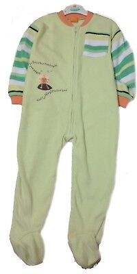 Baby Kids Boys Girls Green Fleece All In One Jumpsuit Babygrow Playsuit Size Age