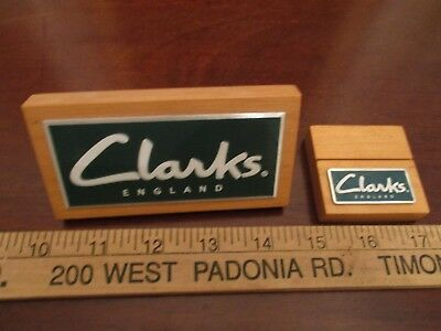 2 In StoreAdvertising PropsStands for CLARKS OF ENGLAND- Shoes