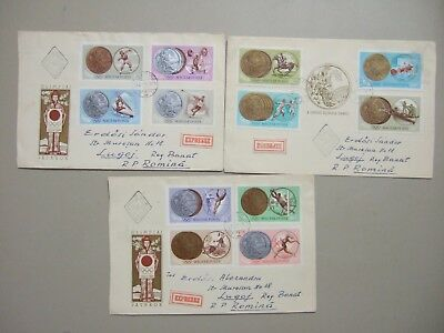 Set of three OLYMPIC GAMES 1964 TOKYO express fdc