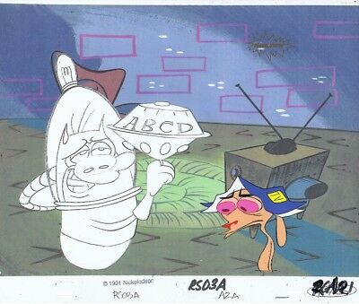 Ren & Stimpy Original Production Cel Cell Space Madness COA Season 1 John K!