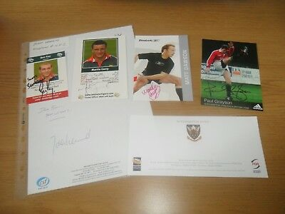 England Rugby Union World Cup Winners 2003 Signed Photo's Bundle Job lot