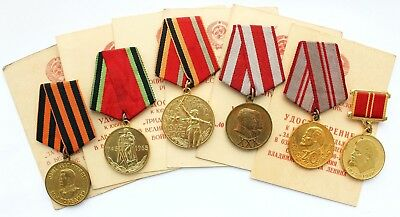 6x Medals 20 30 Y Victory over Germany WWII 30 40 Y Soviet Army Armed Forces Doc