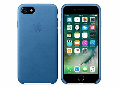 Original Apple iPhone 7 / 8 Leder Hülle Schutzhülle Case sea blau MMY42ZM/A