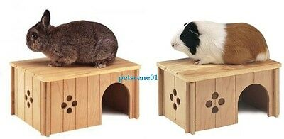 Ferplast Small Rabbit Wooden House Sin4646 Or Guinea Pig Wooden House  Sin4645