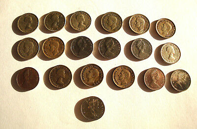 Lot Of 19 Canadian 10 Cent Silver Dime Lot - Canada - 1936 - 1968 No Reserve