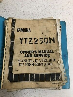 Used Yamaha Oem YTZ250N Owners And Service Manual Vintage