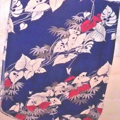 "Hawaiian SARONG wrap floor length gown. Print blue pink white. Never worn. 52"" w"