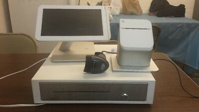Clover cash register with printer, cash drawer and price scanner